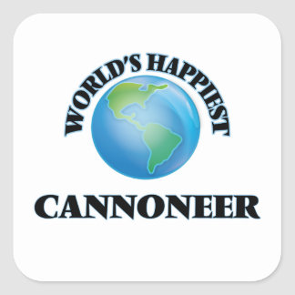World's Happiest Cannoneer Square Sticker