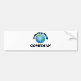 World's Happiest Comedian Car Bumper Sticker