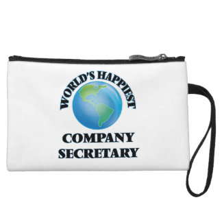 World's Happiest Company Secretary Wristlet Purse