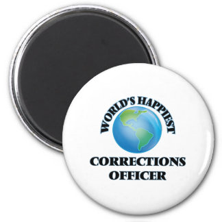 World's Happiest Corrections Officer 2 Inch Round Magnet