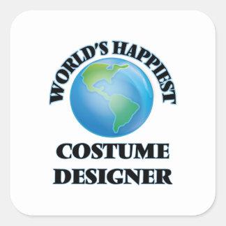 World's Happiest Costume Designer Square Sticker