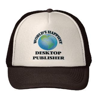 World's Happiest Desktop Publisher Trucker Hat
