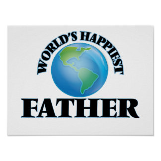 World's Happiest Father Poster