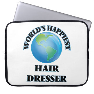 World's Happiest Hair Dresser Laptop Sleeve