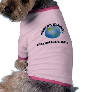 World's Happiest Pharmacologist Pet Tshirt