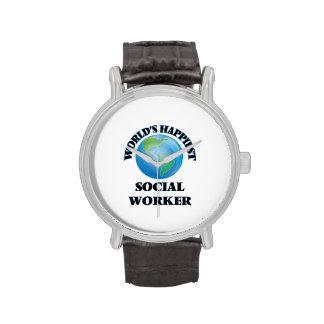 World's Happiest Social Worker Wrist Watch