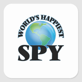 World's Happiest Spy Square Sticker