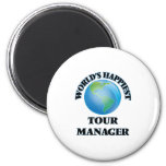 World's Happiest Tour Manager 2 Inch Round Magnet