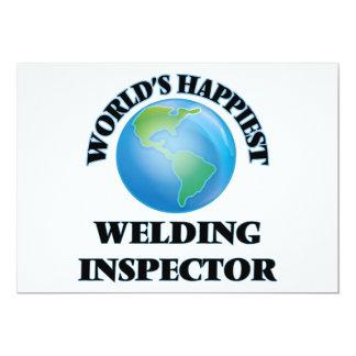 "World's Happiest Welding Inspector 5"" X 7"" Invitation Card"