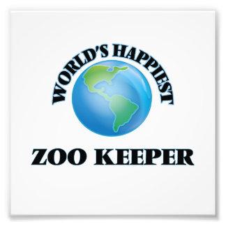 World's Happiest Zoo Keeper Photo Print