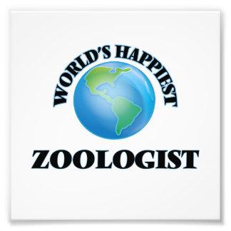 World's Happiest Zoologist Photo Print