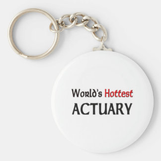 Worlds Hottest Actuary Keychain