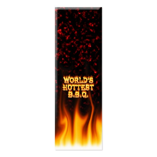 World's hottest BBQ fire and flames red marble. Business Cards