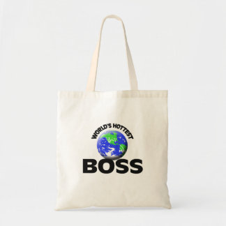 World's Hottest Boss Budget Tote Bag