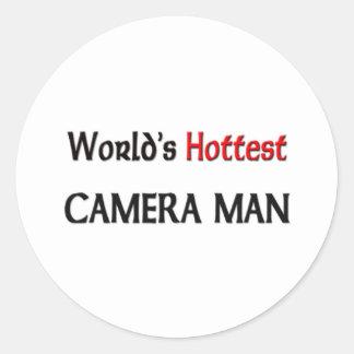 Worlds Hottest Camera Man Stickers