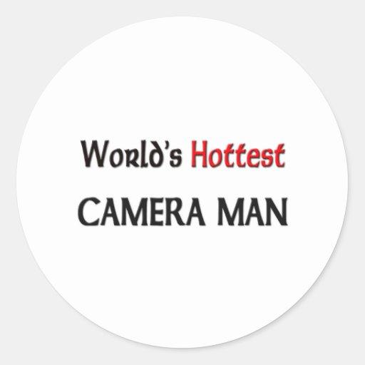 Worlds Hottest Camera Man Round Sticker