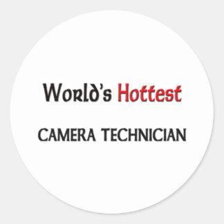 Worlds Hottest Camera Technician Round Sticker