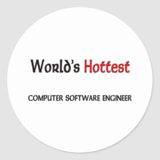 Worlds Hottest Computer Software Engineer Classic Round Sticker