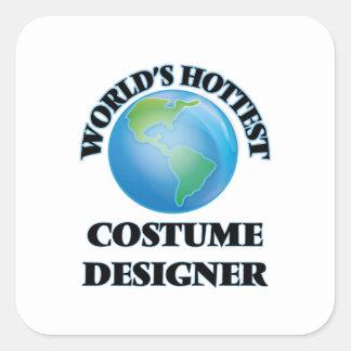 World's Hottest Costume Designer Square Stickers