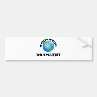World's Hottest Dramatist Bumper Stickers