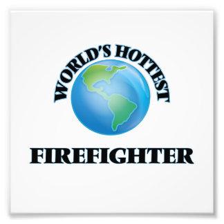 World's Hottest Firefighter Photo Art