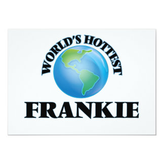 "World's Hottest Frankie 5"" X 7"" Invitation Card"