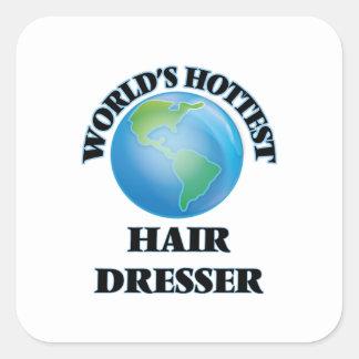 World's Hottest Hair Dresser Square Sticker