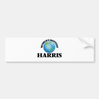 World's Hottest Harris Bumper Sticker