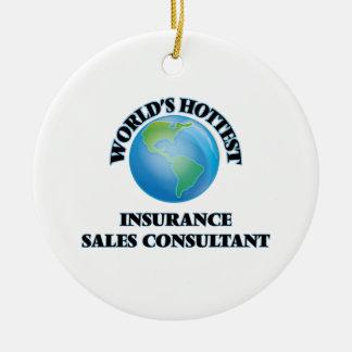 World's Hottest Insurance Sales Consultant Ceramic Ornament