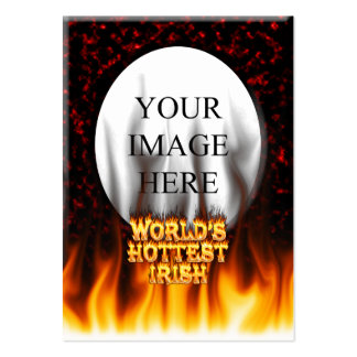 World's Hottest Irish fire and flames red marble. Large Business Card