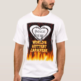 World's hottest Japanese fire and flames red marbl T-Shirt