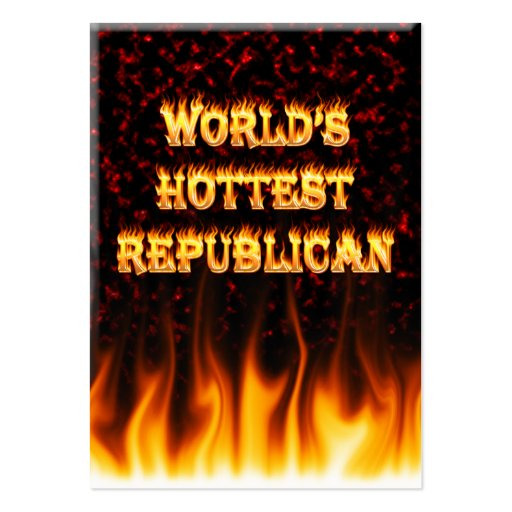 World's Hottest Korean fire and flames red marble Business Card Templates