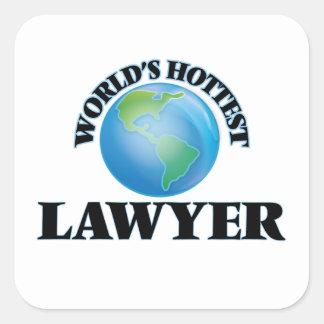 World's Hottest Lawyer Sticker