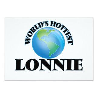World's Hottest Lonnie 5x7 Paper Invitation Card