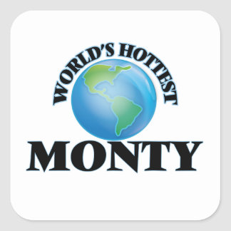 World's Hottest Monty Square Stickers