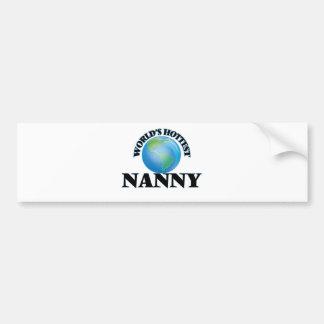 World's Hottest Nanny Bumper Sticker
