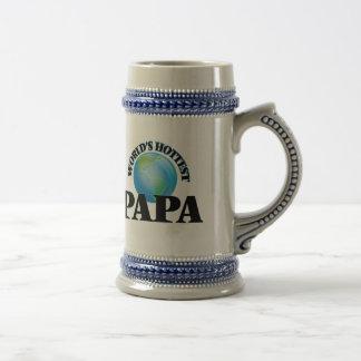 World's Hottest Papa Coffee Mugs