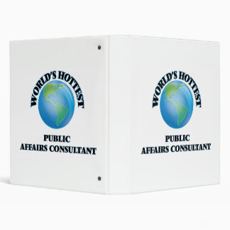 World's Hottest Public Affairs Consultant 3 Ring Binders
