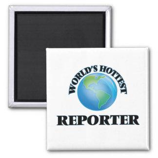 World's Hottest Reporter Refrigerator Magnets
