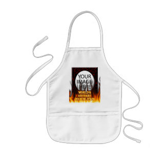 World's Hottest Republican fire and flames red mar Kids Apron