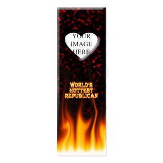 World's Hottest Republican fire and flames red mar Mini Business Card