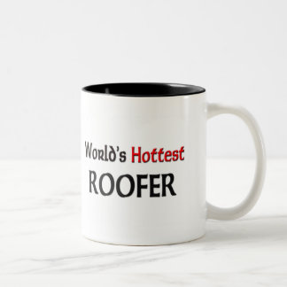Worlds Hottest Roofer Two-Tone Coffee Mug