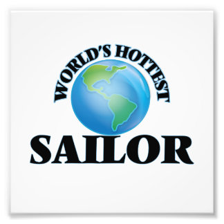 World's Hottest Sailor Photographic Print
