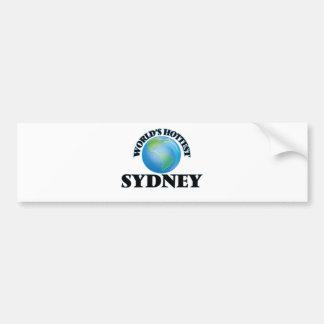 World's Hottest Sydney Bumper Sticker