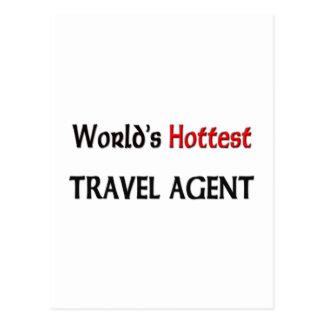 World's Hottest Travel Agent Postcard