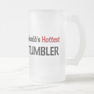 World's Hottest Tumbler Frosted Glass Beer Mug