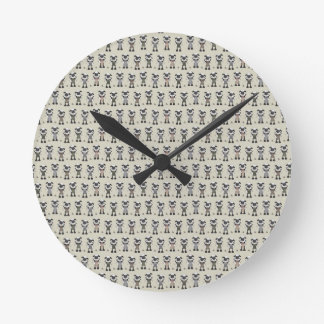 Worlds Largest Knitting Sheep Competition Round Clock