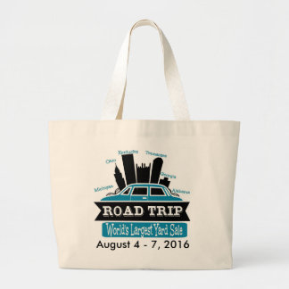 Worlds Largest Yard Sale - Road Trip Large Tote Bag