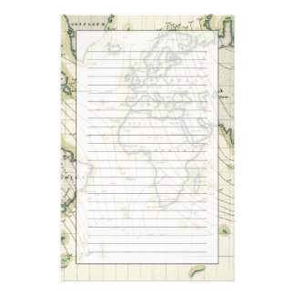 World's magnetic declination personalized stationery