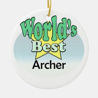World's meilleur Archer Ornement Rond En Céramique
